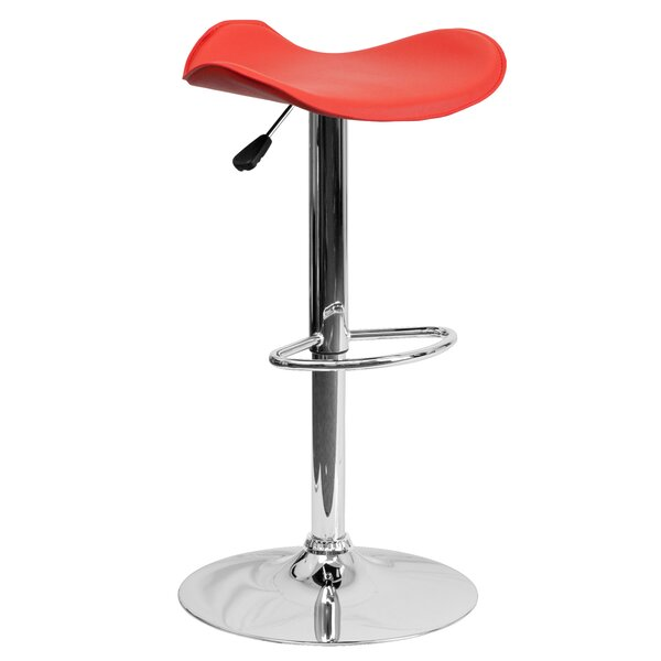 Hinrichs Adjustable Height Swivel Bar Stool by Zipcode Design