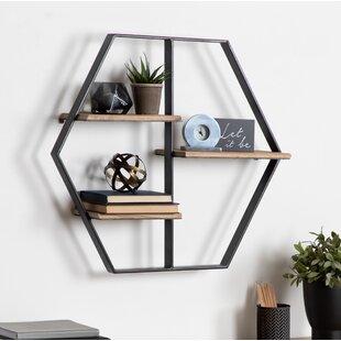 Fordbridge Hexagon Wood Wall Shelf