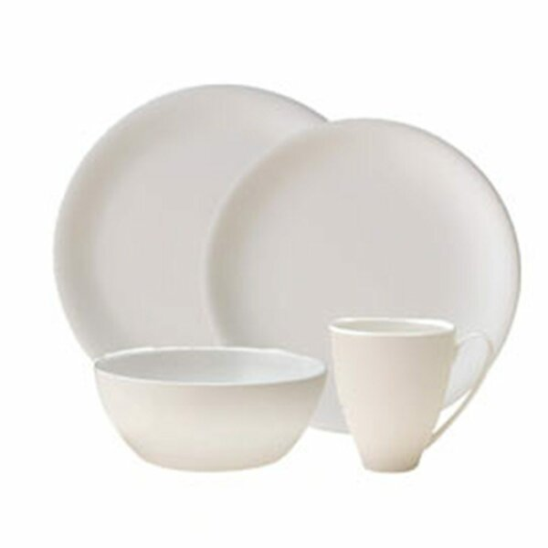 China by Denby Bone China 4 Piece Place Setting, Service for 1 by Denby