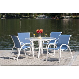 Cuccia 5 Piece Dining Set By Rosecliff Heights