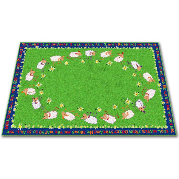 Little Lambs of God Circle Time Kids Rug by Kid Carpet