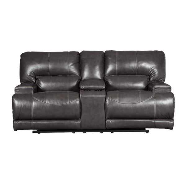 Casey Power Reclining Loveseat with Console by Red Barrel Studio
