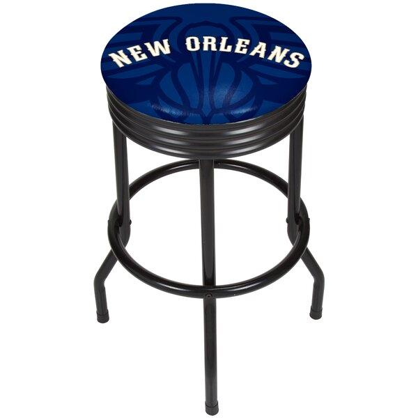 NBA Fade Ribbed 28.5 Swivel Bar Stool by Trademark Global