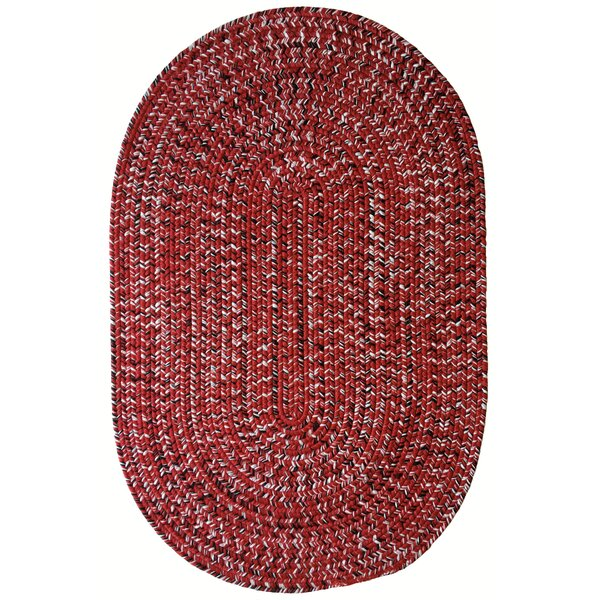 One-of-a-Kind Aukerman Hand-Braided Red/White Indoor/Outdoor Area Rug by Isabelline