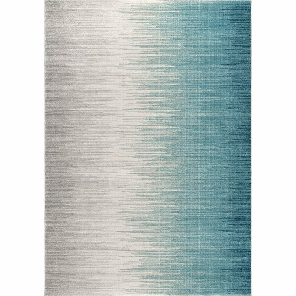 Elisabeth Blue/Beige Area Rug by Wrought Studio