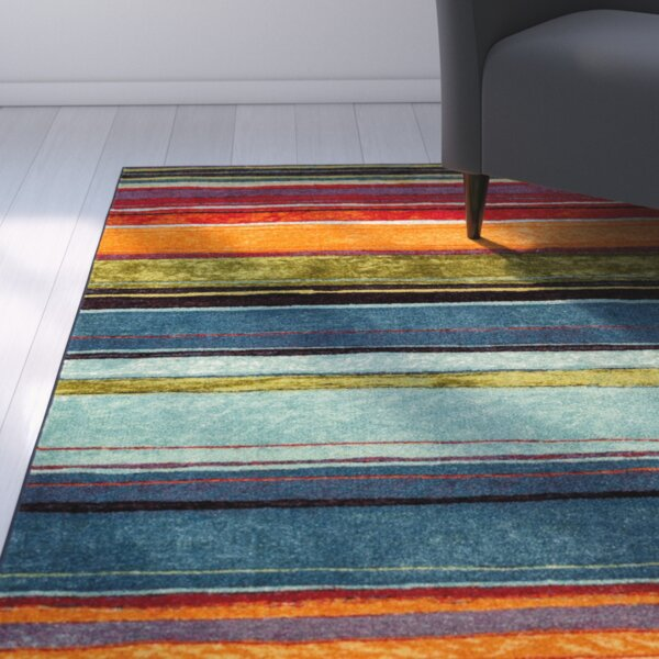 Bartlett Las Cazuela Blue/Orange Area Rug by Red Barrel Studio