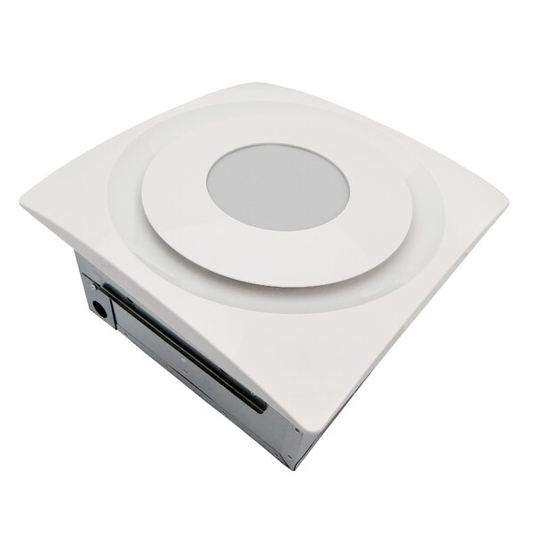 SlimFit 120 CFM Bathroom Fan with Light and Sensor by Aero Pure