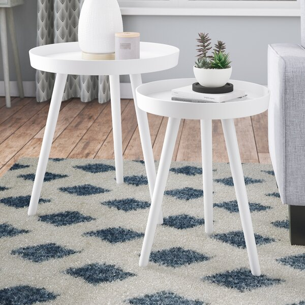 Review Kinchen 2 Piece Nesting Tables
