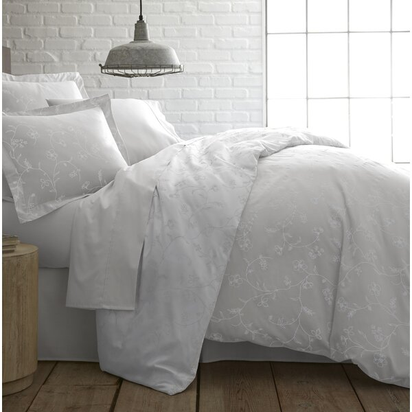 Lockport Cotton Reversible Comforter Set by Charlton Home