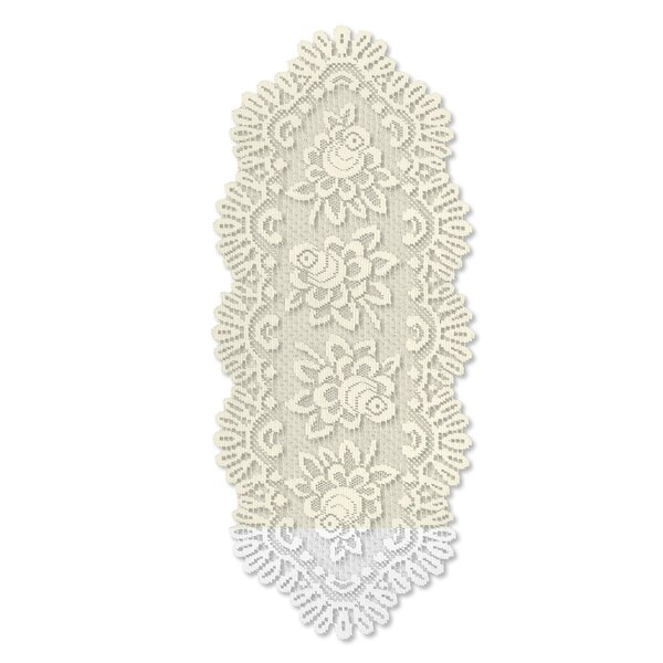 Rose Oval Runner by Heritage Lace