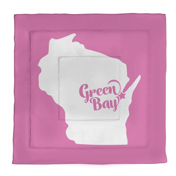 Wisconsin Green Bay Single Reversible Comforter