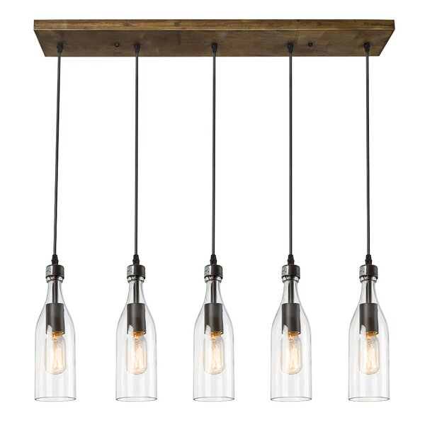 5-Light  LED  Pendant by LNC Home
