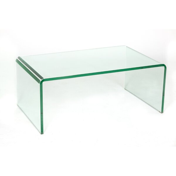 Waterfall Glass Coffee Table by C2A Designs