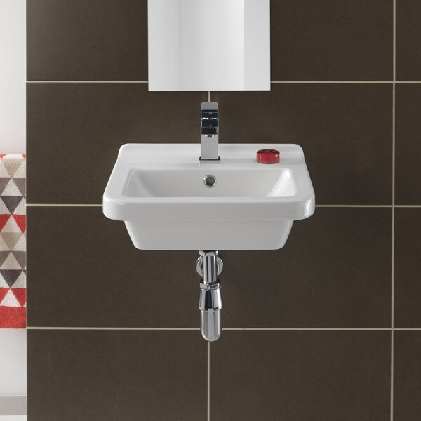 Pro Vitreous China 18 Wall Mount Bathroom Sink with Overflow