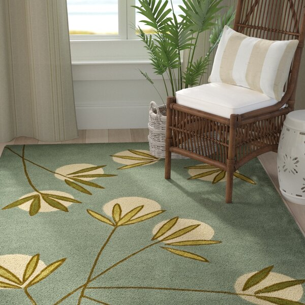 Felton Light Blue/Green Area Rug by Bay Isle Home