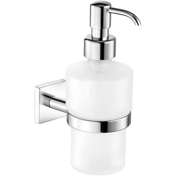 Sosa Wall Frosted Glass Soap & Lotion Dispenser by Orren Ellis
