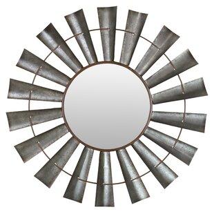 Gracie Oaks Travis Windmill Wall Mirror