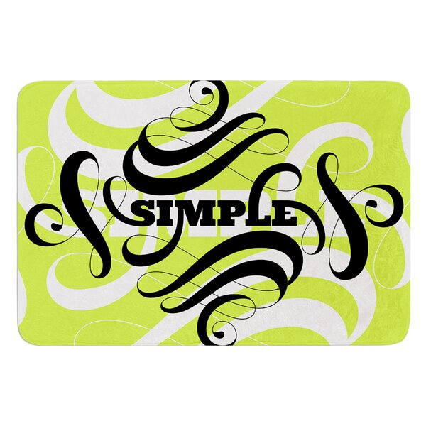 Simple by Roberlan Bath Mat by East Urban Home
