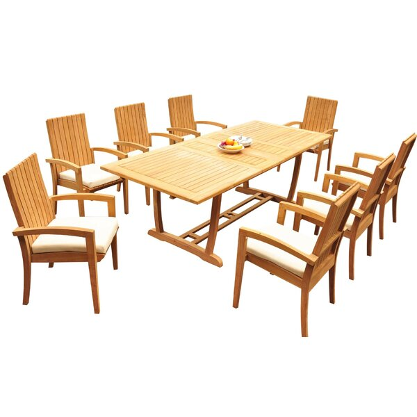 Willis 9 Piece Teak Dining Set By Bayou Breeze