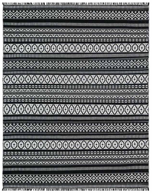 nice black white rug. Complex Hand Woven Black White Area Rug St  Croix Reviews Wayfair