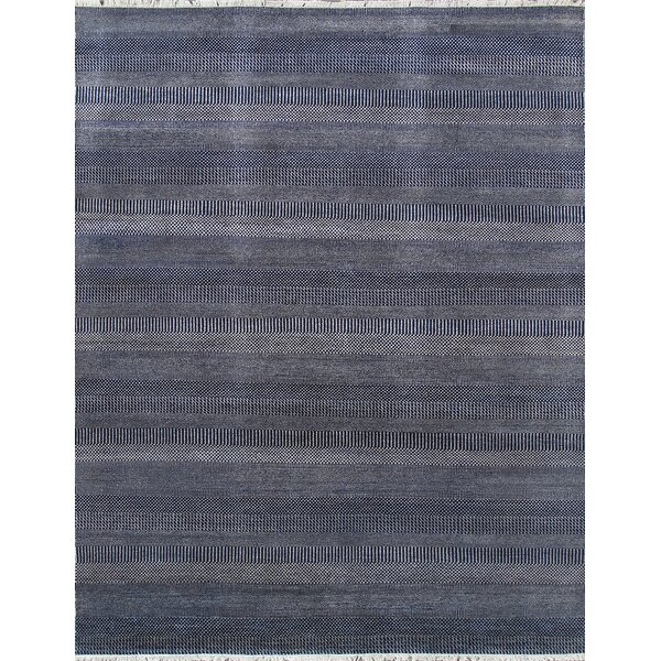 Transitional Hand Knotted Wool Navy Area Rug by Pasargad