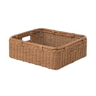 Wide Storage Shelf Wicker Rattan Basket