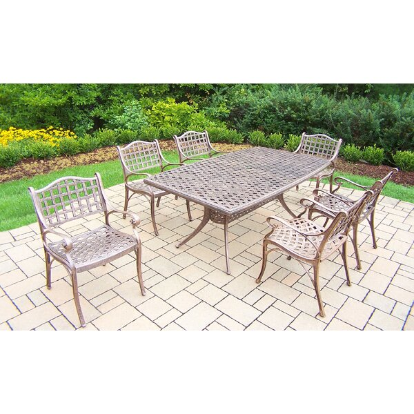 Thelma 7 Piece Aluminum Dining Set by Astoria Grand