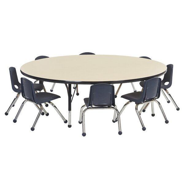 9 Piece Circular Activity Table & 10 Chair Set by ECR4kids