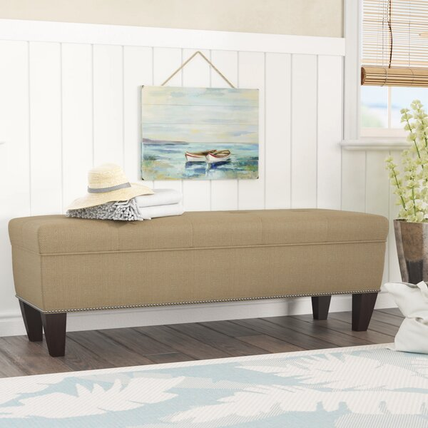 Potrero Wood Flip Top Storage Bench by Alcott Hill
