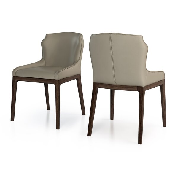 Howe Genuine Leather Upholstered Dining Chair (Set of 2) by 17 Stories