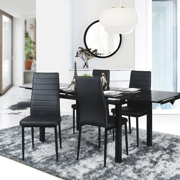 Low Price Richey Faux Leather Upholstered Metal Side Chair (Set Of 4)