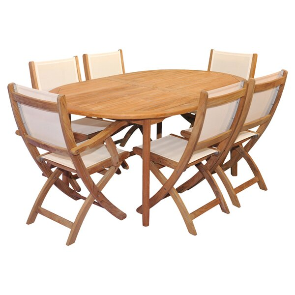 Thompson 7 Piece Teak Dining Set with Cushions by Regal Teak