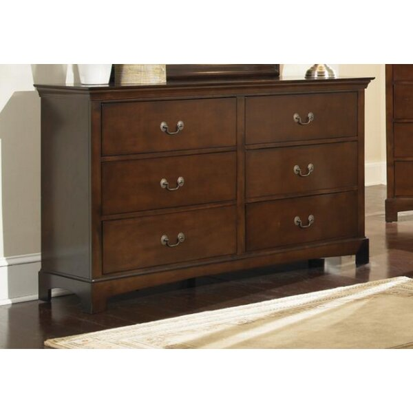 Mikels 6 Drawer Double Dresser by Alcott Hill