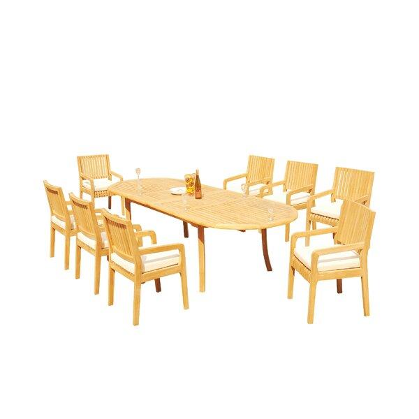 Mastin 9 Piece Teak Dining Set