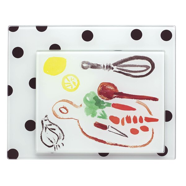 All in Good Taste 2 Piece Deco Dot Food Prep Board Set by kate spade new york