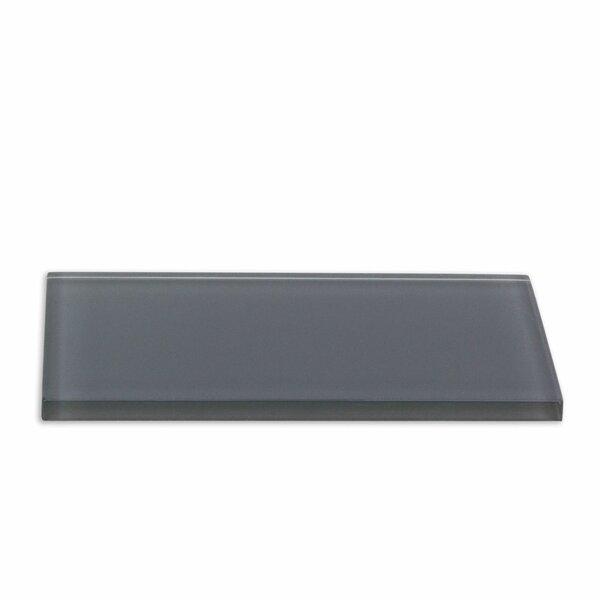 Contempo 3 x 6 Glass Subway Tile in Smoke Gray by Splashback Tile