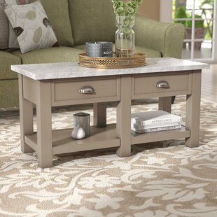 Burket Faux Coffee Table Three Posts Spacial Price