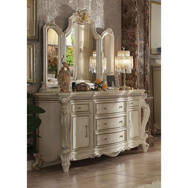 Dili 5 Drawer Combo Dresser with Mirror by Astoria Grand