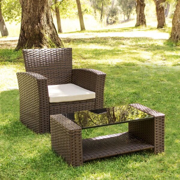 Rina Deep Seating Chair by Highland Dunes