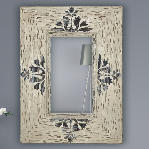 Rectangular Wood Framed Beveled Glass Wall Mirror by Majestic Mirror