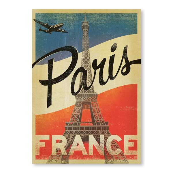Paris Flag Vintage Advertisement by East Urban Home