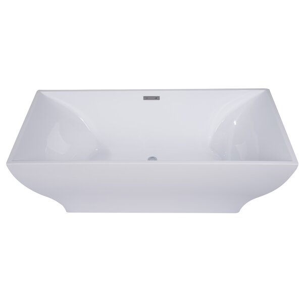 Rectangular Acrylic 67 x 32 Freestanding Soaking Bathtub by Alfi Brand