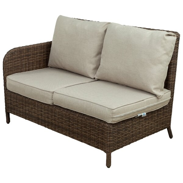 Bavis 4 Piece Rattan Sectional Seating Group with Cushions by Gracie Oaks