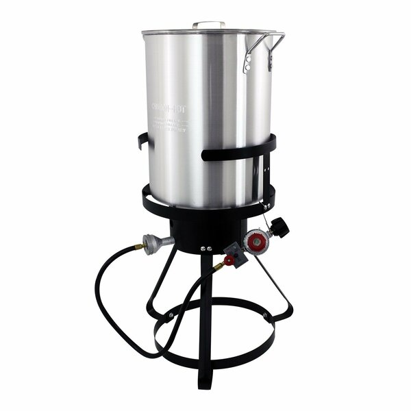 30-Quart Aluminum 1-Burner Propane Turkey Fryer by Chard