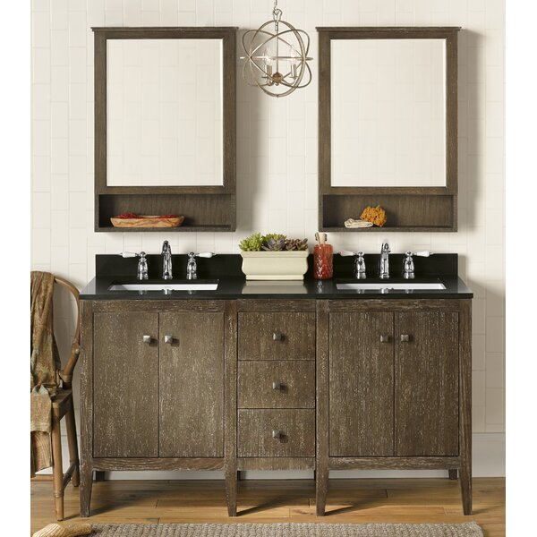 Sophie 60 Double Bathroom Vanity Set with Mirror by Ronbow