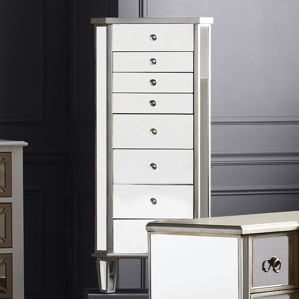 Hampstead Jewelry Armoire with Flip Top Mirror by Willa Arlo Interiors