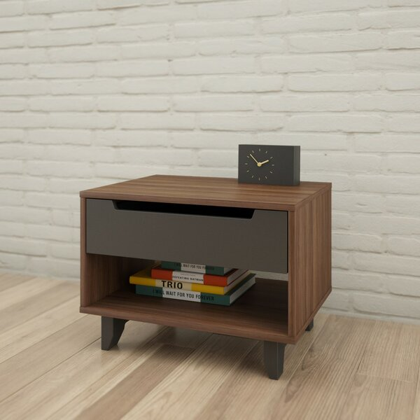 Aristocles 1 Drawer Nightstand by Mercury Row