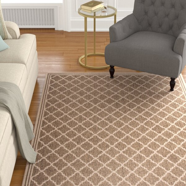 Berardi Brown/Cream Area Rug by Darby Home Co