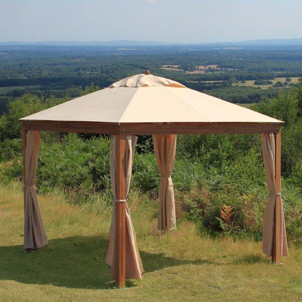 Levante 10 Ft. W x 10 Ft. D Solid Wood Patio Gazebo by Bambrella