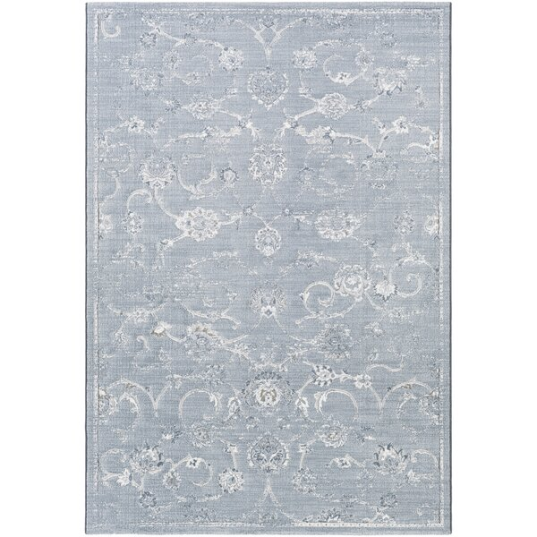 Pickrell Distressed White/Pale Blue Area Rug by One Allium Way